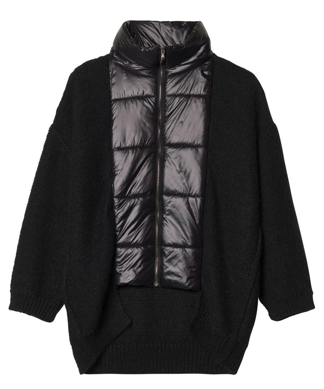 10Days Black Puffer Cardigan 20.654.9103/8