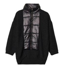 10Days 10Days Black Puffer Cardigan 20.654.9103/8