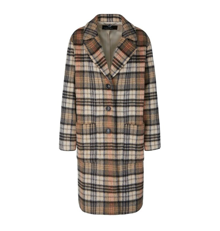Marc Cain Marc Cain Plaid Coat MC1115