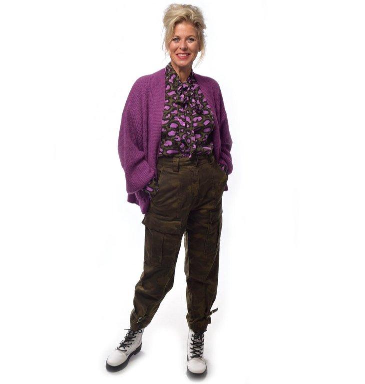 Essentiel Antwerp Essentiel Antwerp Purple Cardigan Try