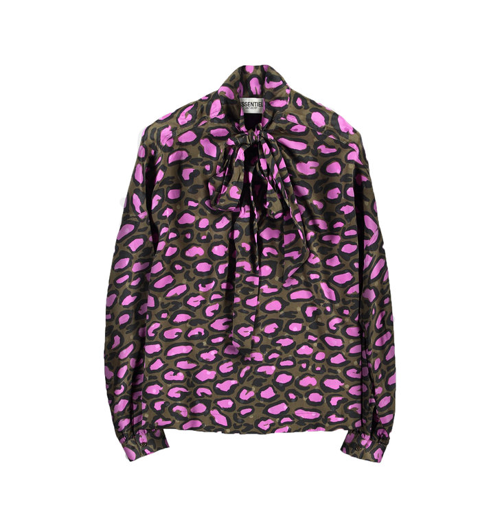 Essentiel Antwerp Essentiel Antwerp Purple Leopard Blouse Tonashe