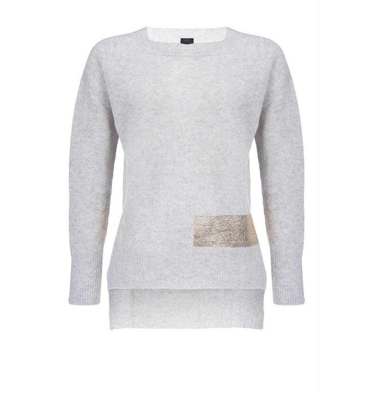 Pinko Pinko Grey Knit Giapponese Wool Cashmere