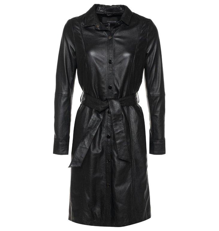 Arma Arma Black Leather Dress Diana Ross