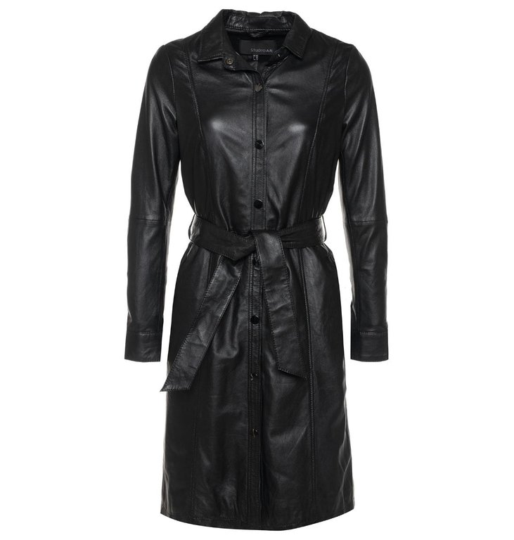 Arma StudioAR by Arma Black Leather Dress Diana Ross
