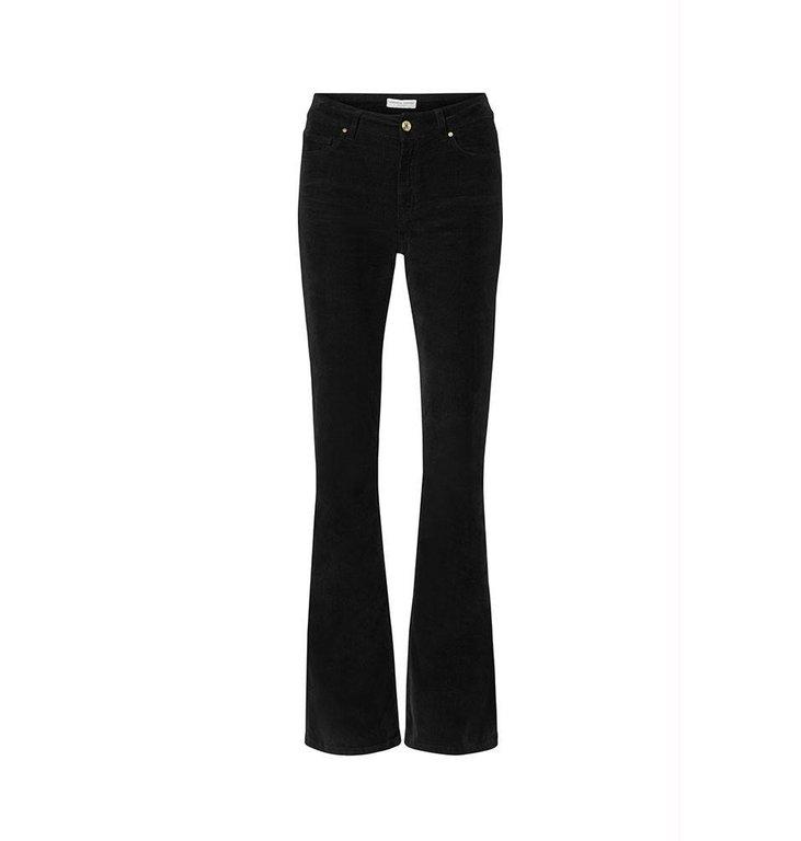 Fabienne Chapot Fabienne Chapot Black Trousers Eva Corduroy Flare