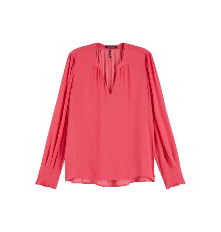 Maison Scotch Maison Scotch Pink V-neck Blouse 152497
