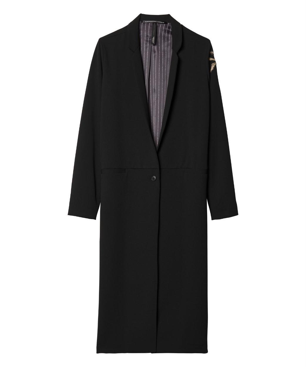 10Days Black Long Blazer Palm 20.501.9103/9