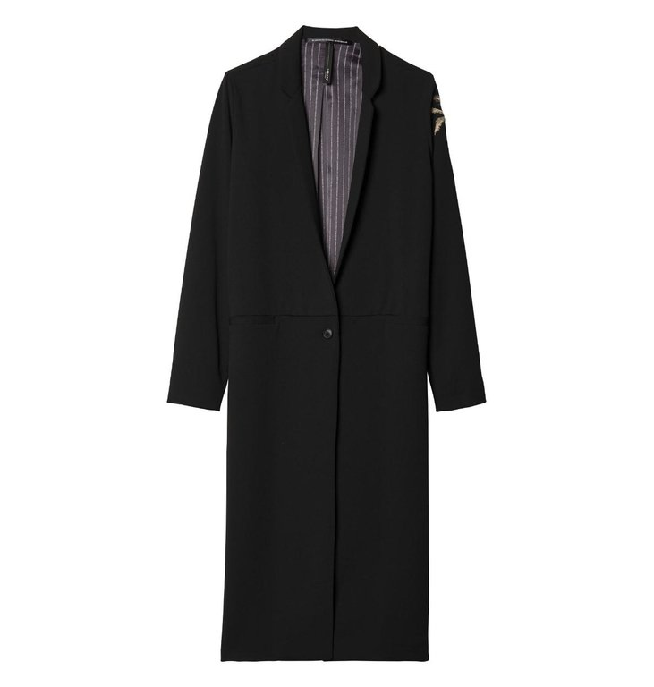 10Days 10Days Black Long Blazer Palm 20.501.9103/9