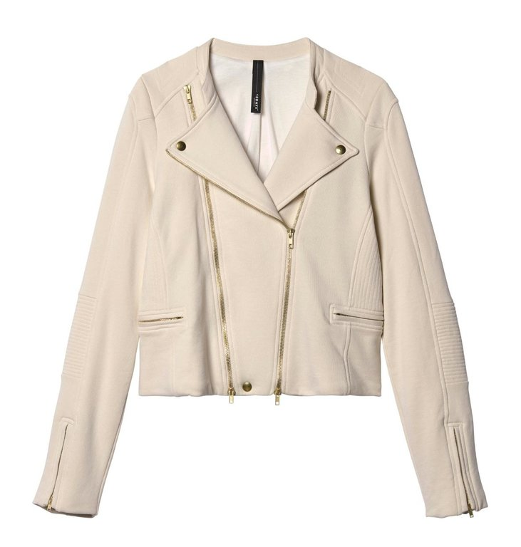 10Days 10Days Winter White Biker Jacket Velvet Fleece 20.508.9103/9