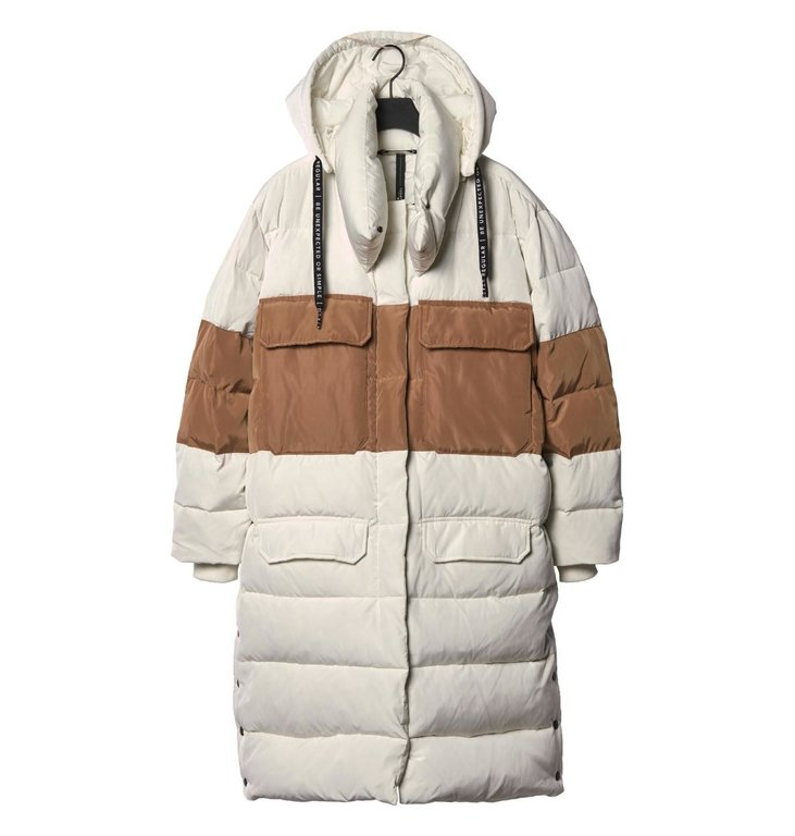 10Days 10Days Ecru Panel Down Jacket 20.573.9103/9