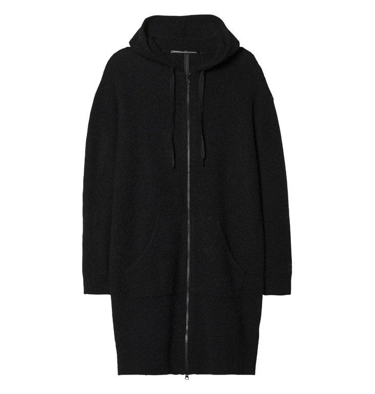 10Days 10Days Black Hoodie Merino Wool 20.660.9103/9