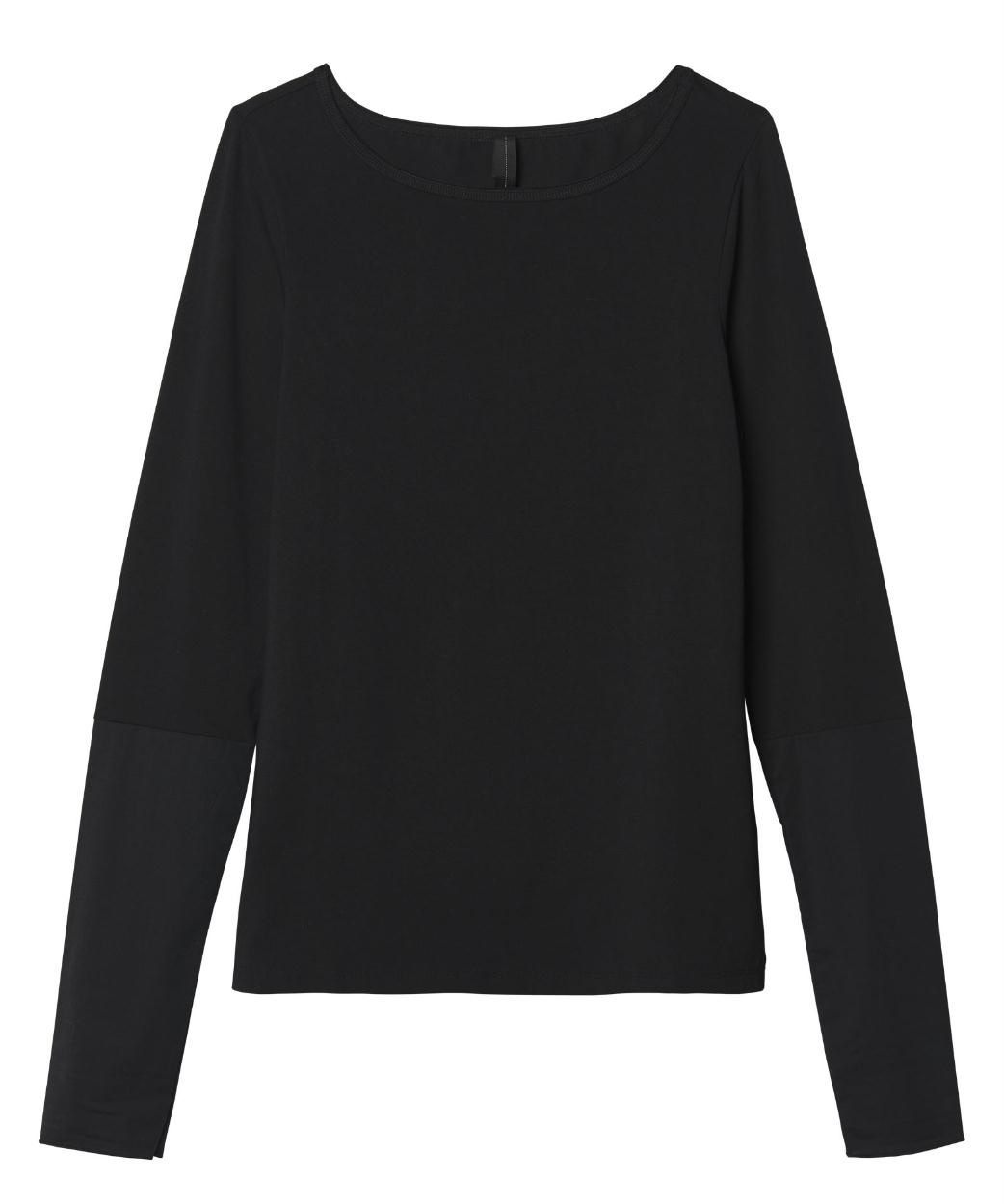 10Days Black Boatneck Tee Poplin 20.778.9103/9