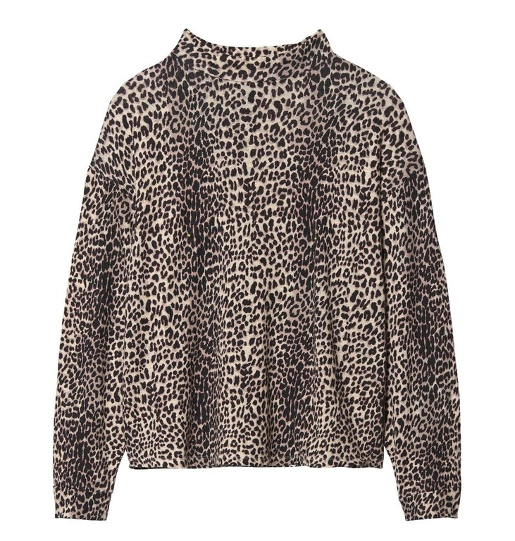 10Days 10Days Leopard Turtleneck Longsleeve Tee 20.786.9103/9
