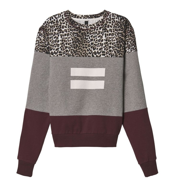 10Days 10Days Light Grey Melee Leopard Panel Sweater 20.807.9103/9