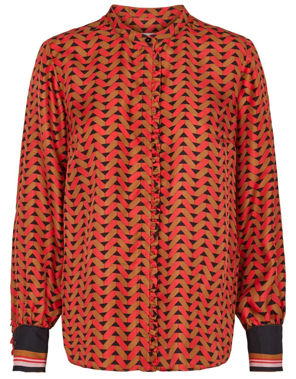 Second Female Red Blouse Tiles