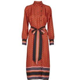 Second Female Second Female Red Midi Dress Tiles