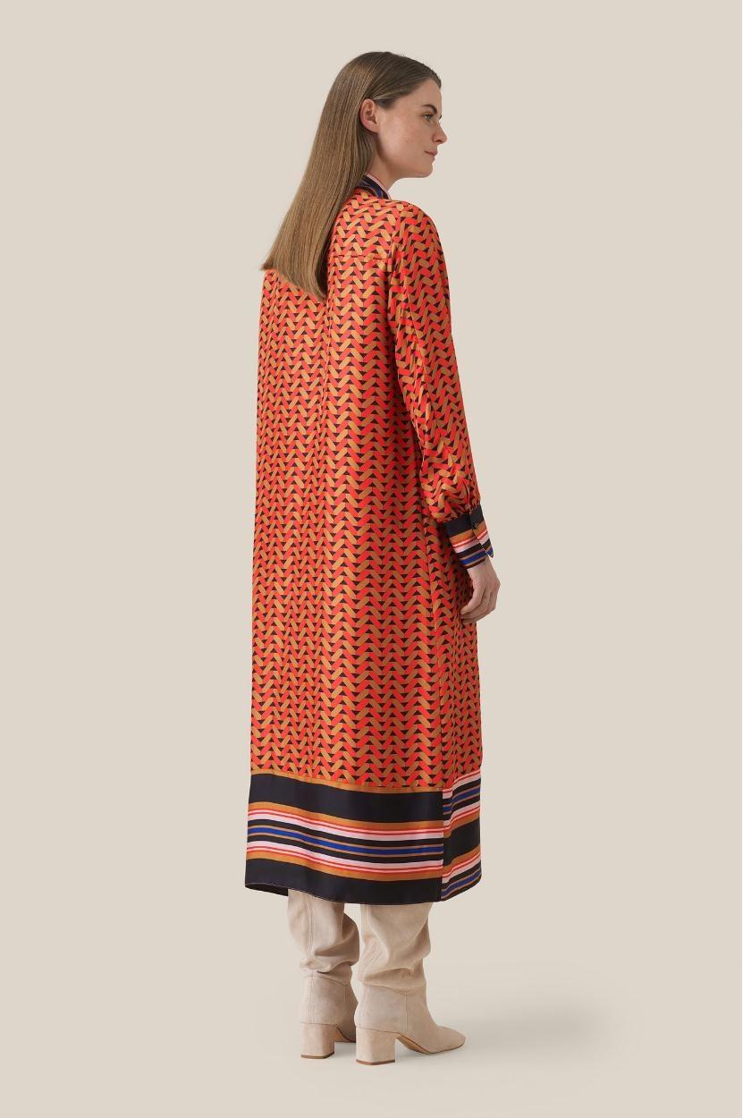Second Female Red Midi Dress Tiles