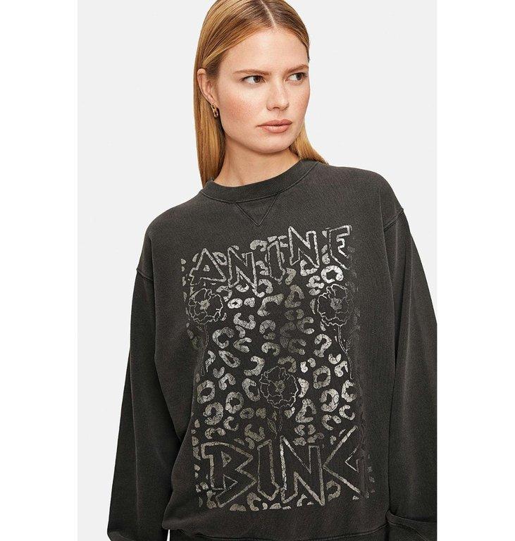 Anine Bing Anine Bing Black Ramona Panther Sweatshirt A08.5055.012