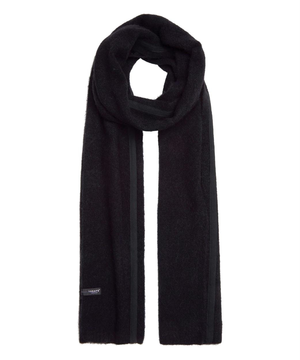 10Days Black Scarf Merino Wool 20.690.9103/9