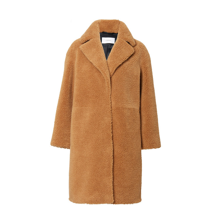 Stand Stand Beige Coat Camille Cocoon Teddy