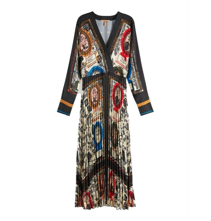 Maison Scotch Maison Scotch Multicolour Printed Midi Dress 154274