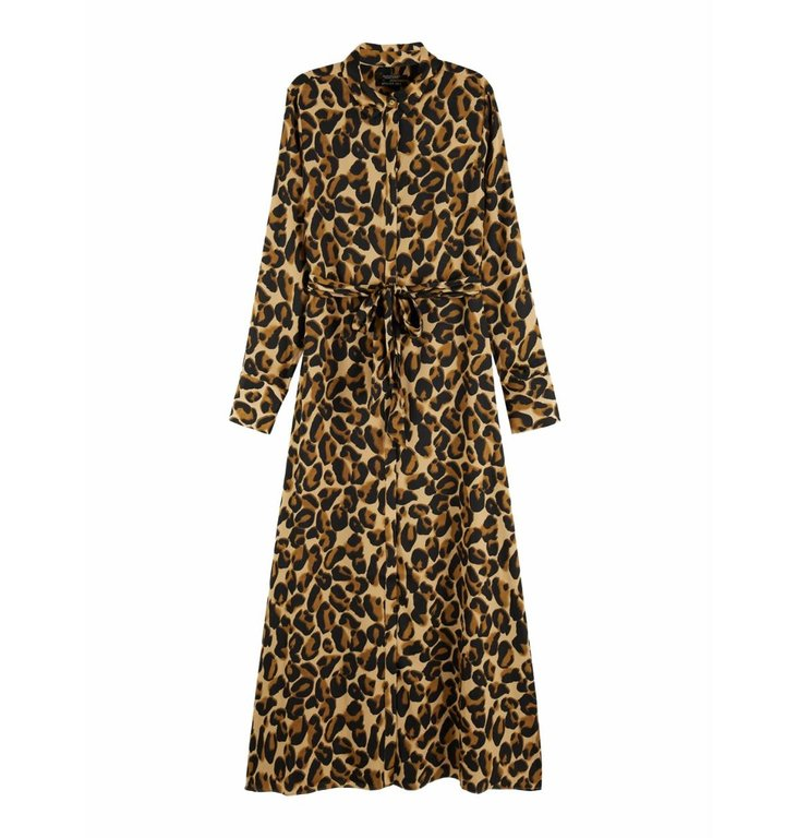 Maison Scotch Maison Scotch Leopard Maxi Dress 152545