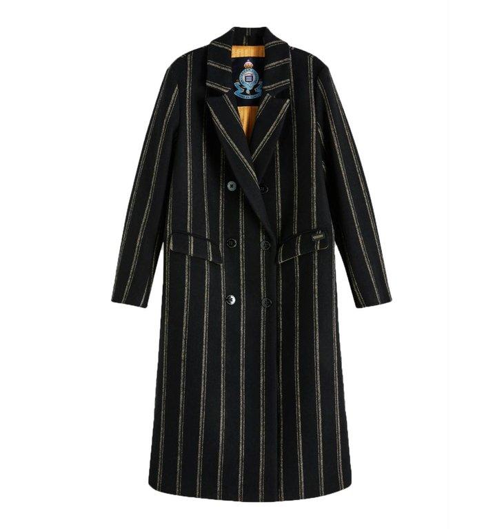 Maison Scotch Maison Scotch Black Long Wool Coat 152688