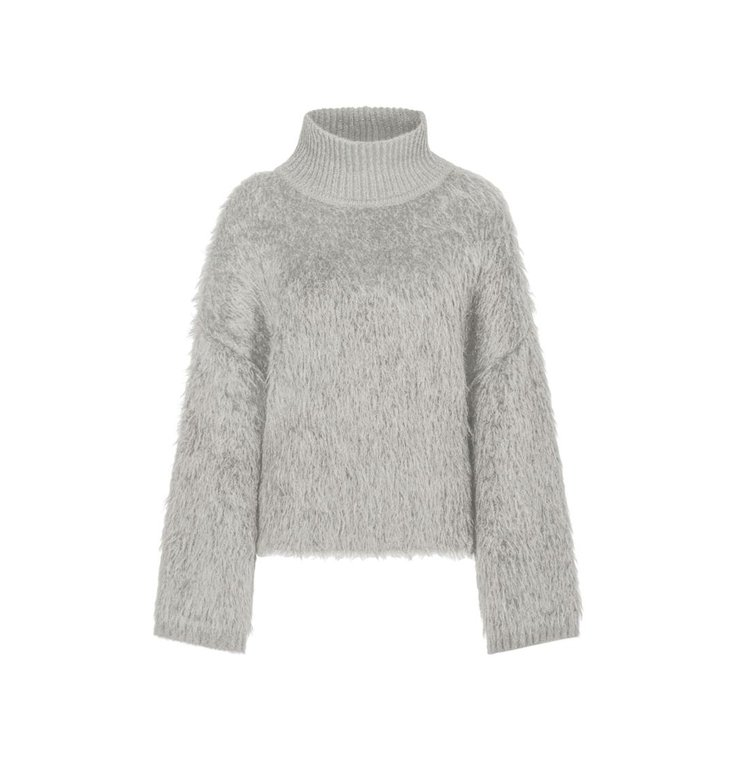 Marc Cain Marc Cain Grey Faux Fur Sweater MC4154