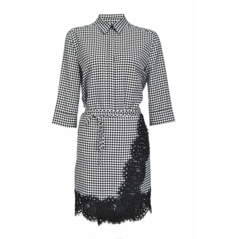 Pinko Pinko Plaid Dress Persistere