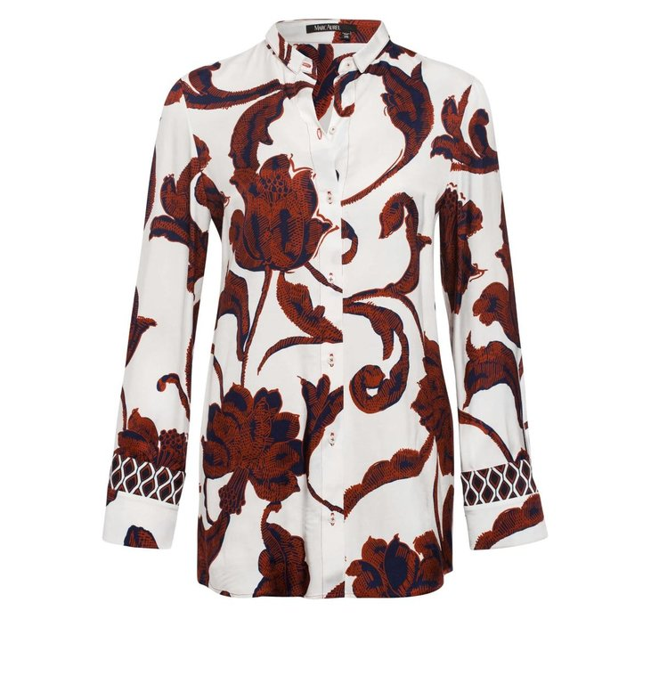 Marc Aurel Marc Aurel White Print Blouse 6305