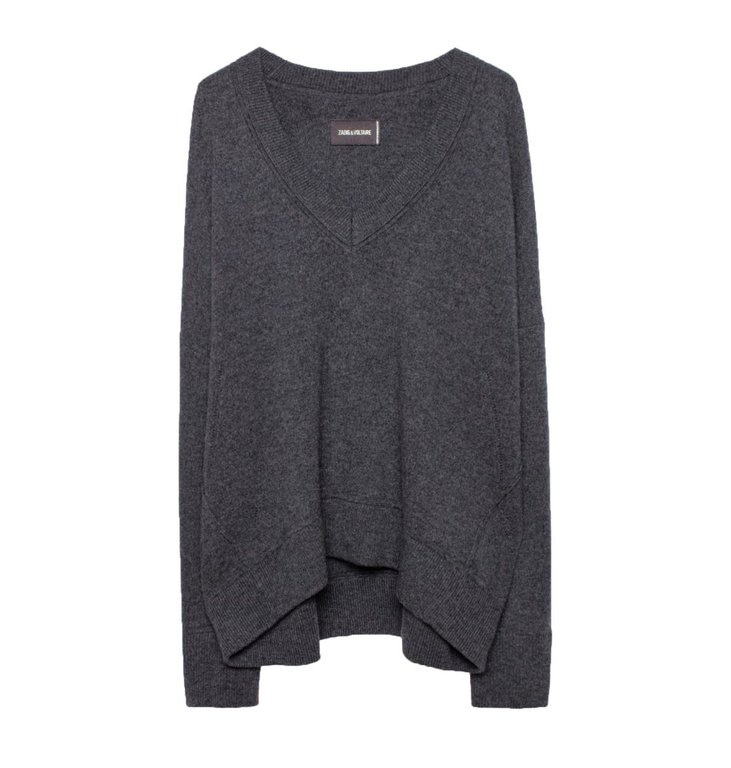 Zadig & Voltaire Zadig & Voltaire Grey Melee Brumy MW Smoo Sweater WHML1113F