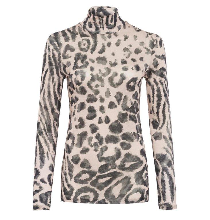 Marc Aurel Marc Aurel Leopard Longsleeve 7895