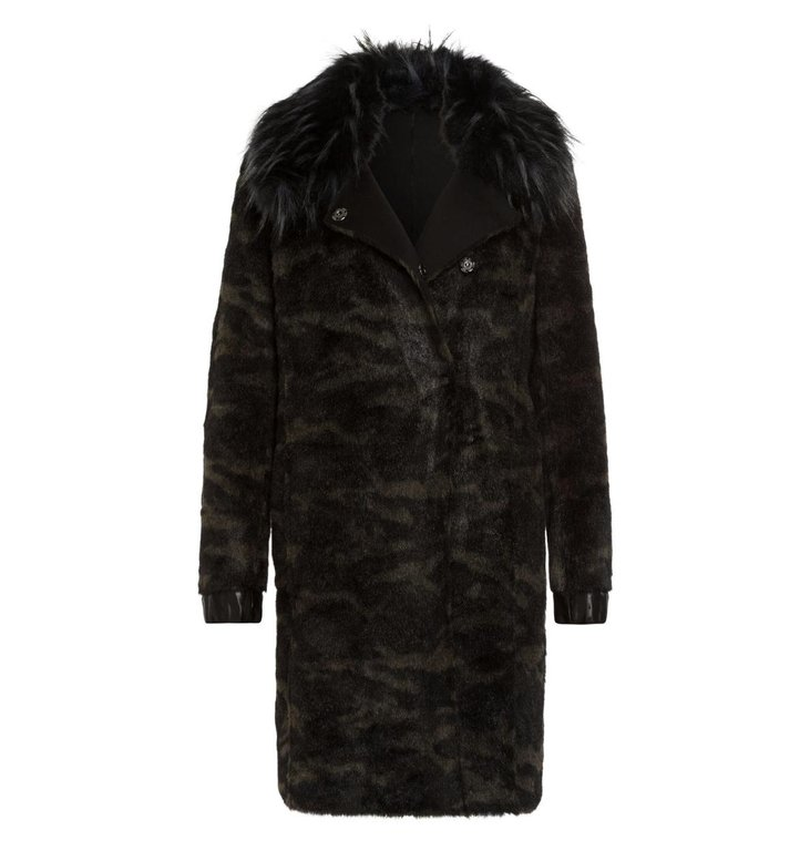 Marc Aurel Marc Aurel Black Reversible Coat 5436