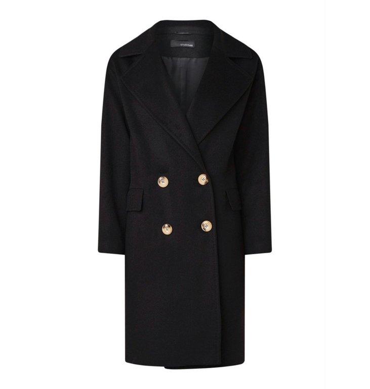 Arma Arma Black Wool Coat Nerela