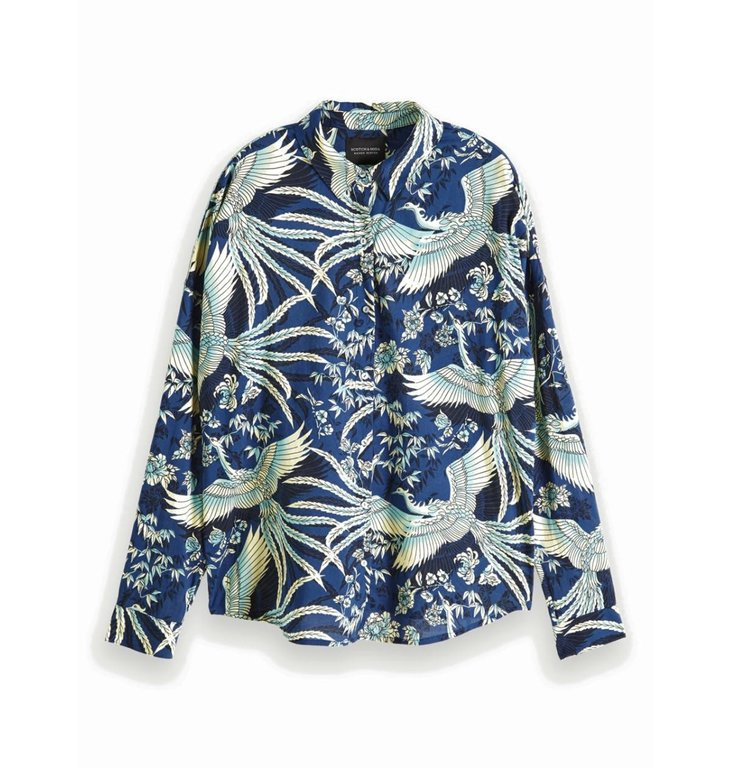 Maison Scotch Maison Scotch Blue Print Shirt 152478