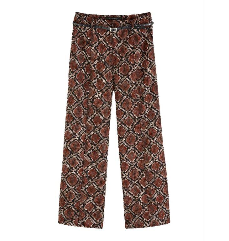 Maison Scotch Maison Scotch Snake Print Wide Leg Pants 152670