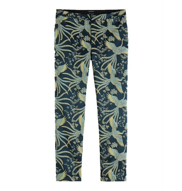 Maison Scotch Maison Scotch Blue Print Jacquard Pants 152674