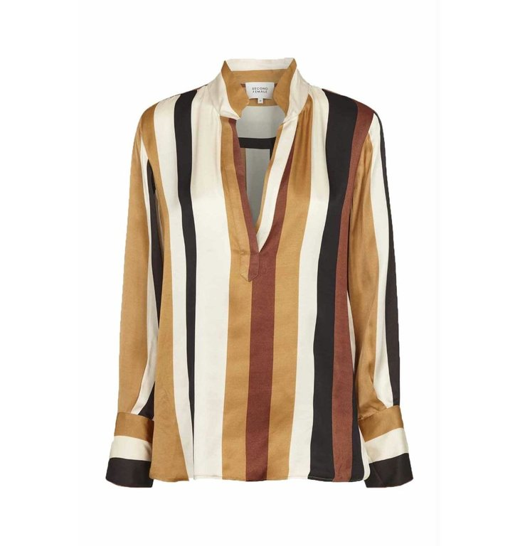 Second Female Second Female Striped Blouse Fast LS