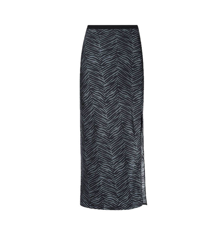 Anine Bing Anine Bing Grey Dolly Silk Skirt Zebra A04.4041.342