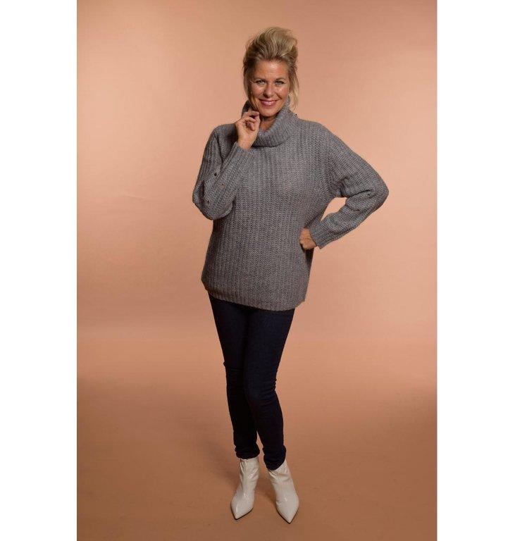 Repeat Repeat Grey Wool Alpaca Pullover 400282