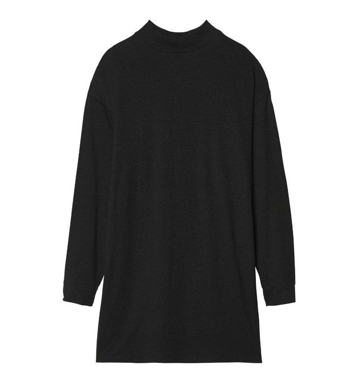 10Days 10Days Black Turtleneck Linen Dress 20.347.9103/9