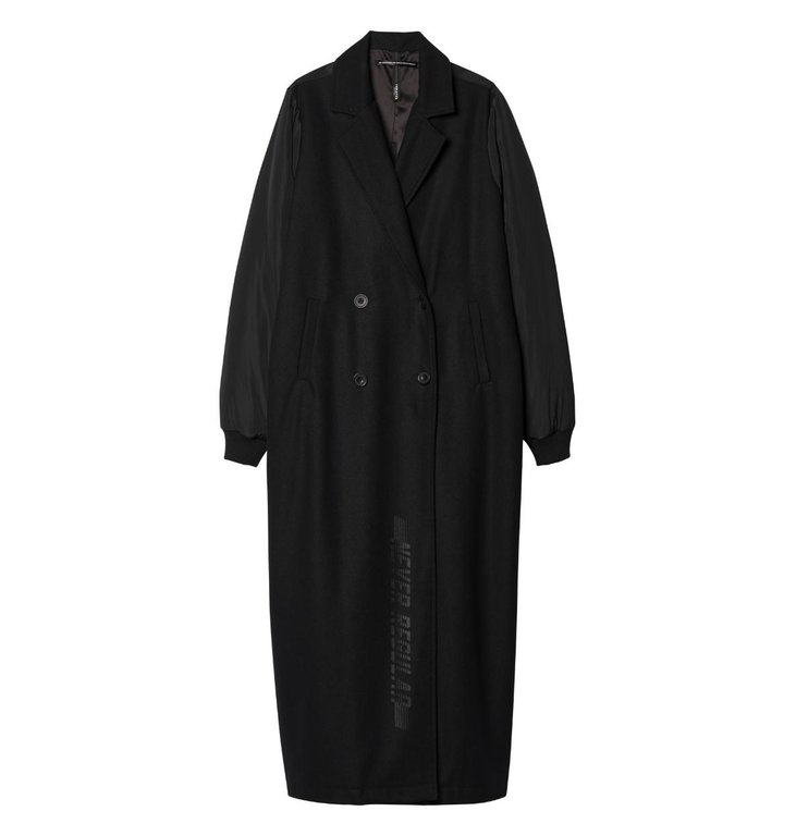 10Days 10Days Black Long Bomber Coat 20.574.9103/9