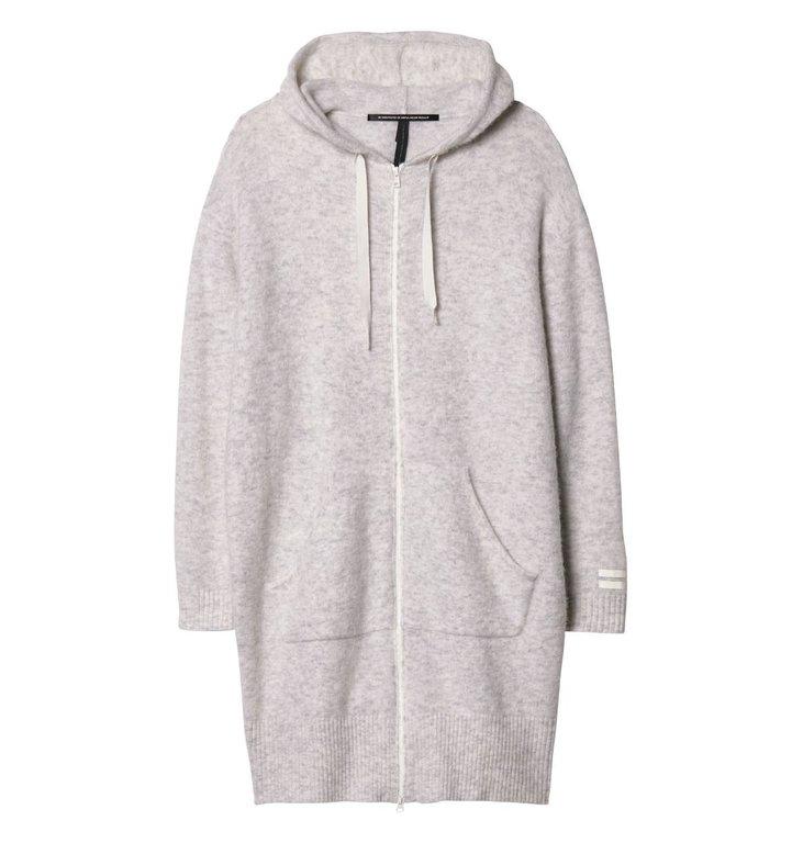 10Days 10Days Soft White Melee Hoodie Merino Wool 20.660.9103/9