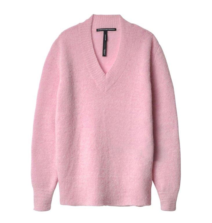 10Days 10Days Light Pink Light Pink V-Neck Sweater 20.607.9104