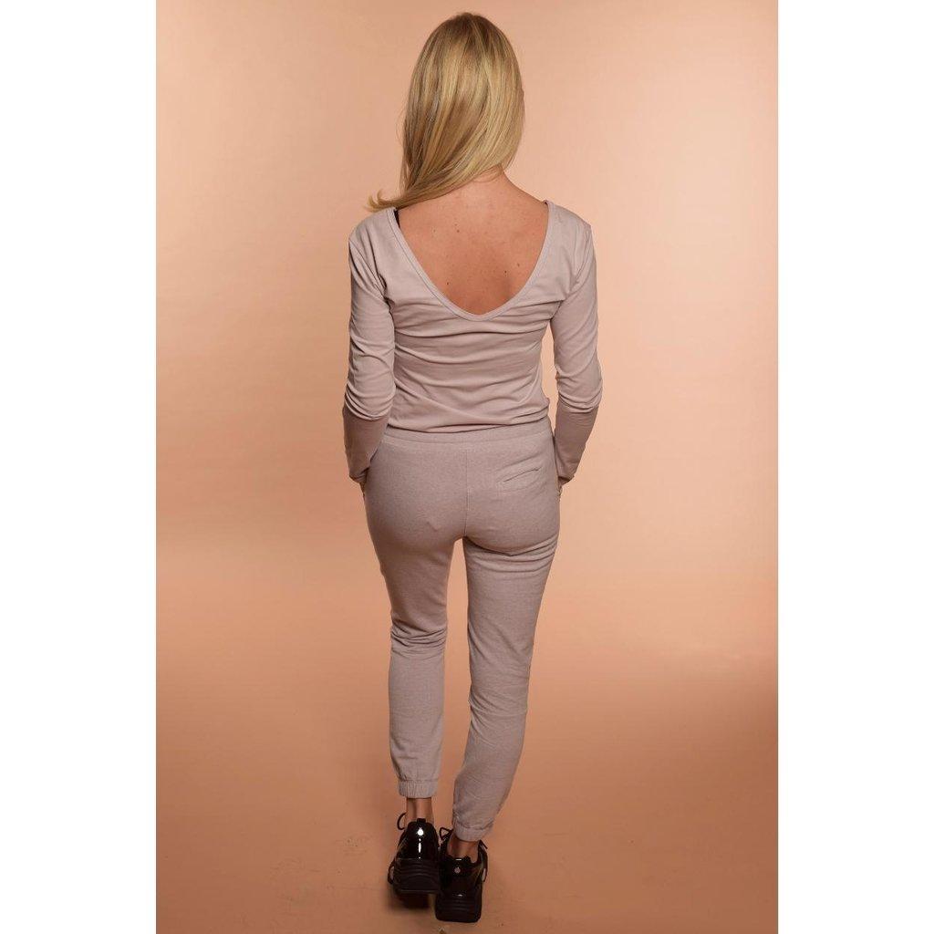 10Days Light Pink 3/4 Sleeve V-Neck Tee 20.771.9104