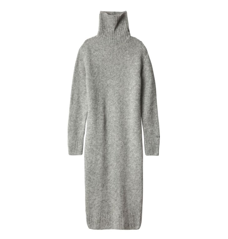 10Days 10Days Light Grey Melee Col Dress 20.635.9104