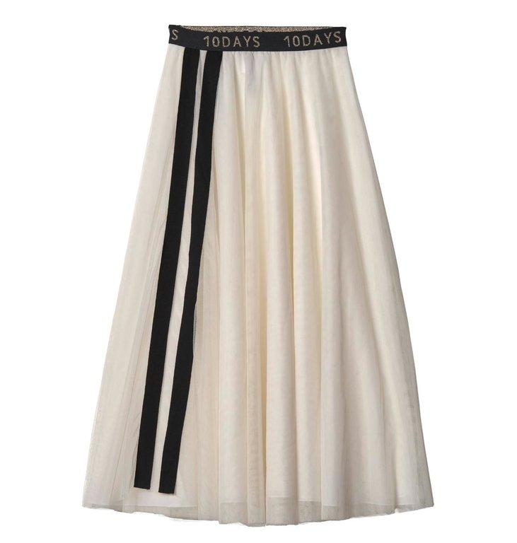 10Days 10Days Winter White Tulle Skirt 20.107.9103/9