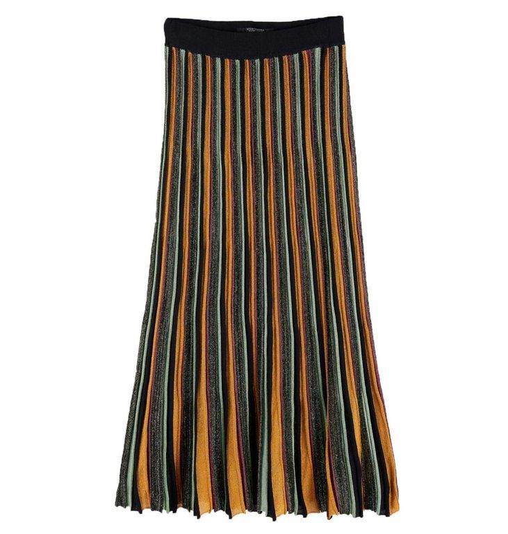 Maison Scotch Maison Scotch Striped Printed Midi Skirt 152603
