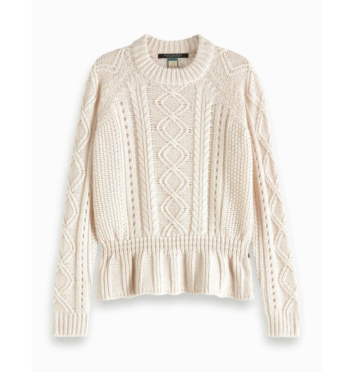 Maison Scotch Maison Scotch Ecru Chunky Cable Knit 153194