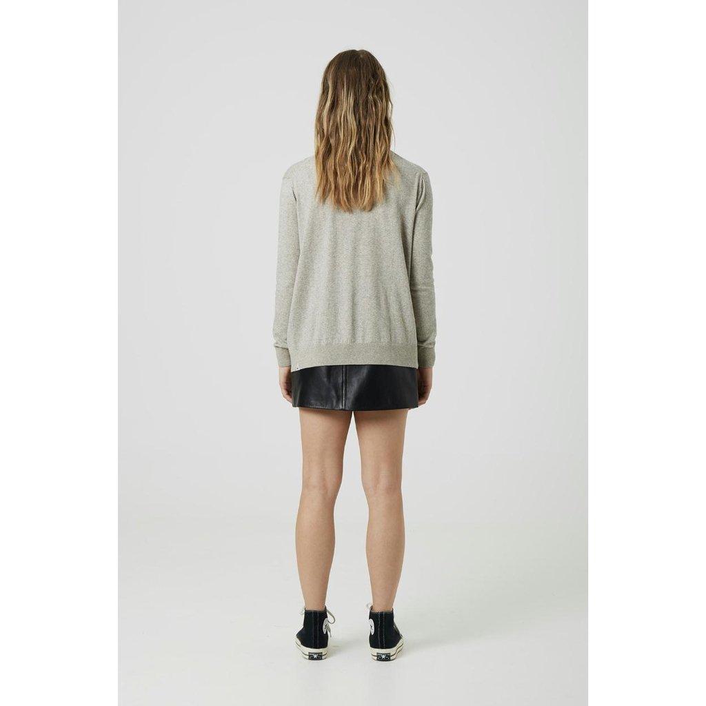 Denham Grey Melee Knit Taylor Vneck FCC